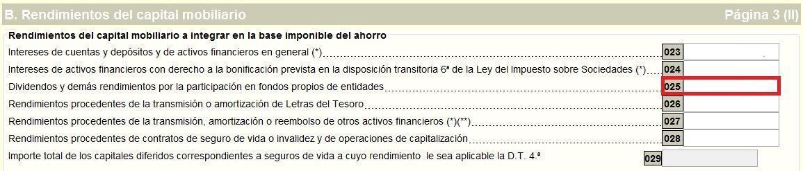 Declaración de los dividendos en la declaración de renta 2015