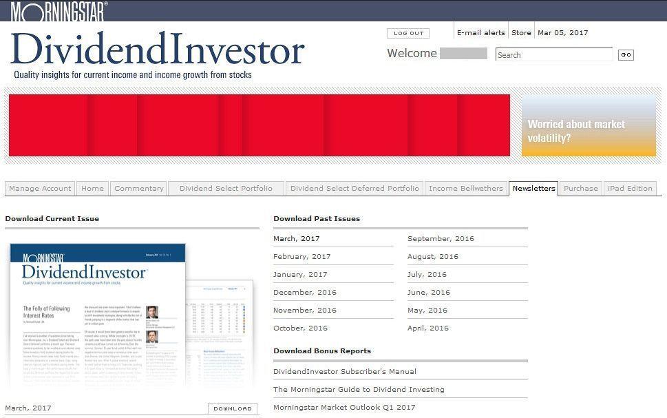 Publicaciones de Morningstar DividendInvestor