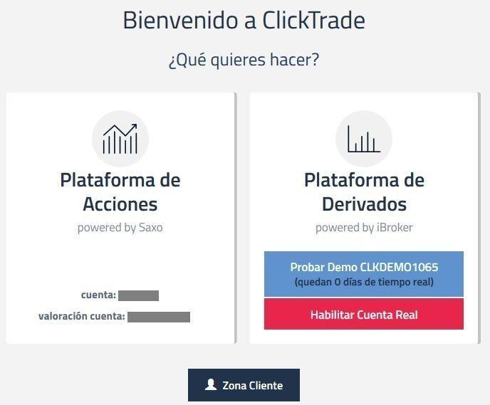 Ibroker Global Markets SV da acceso a Clicktrade e IBroker