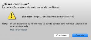 Error de certificado al acceder a la web del Ministerio de Economía