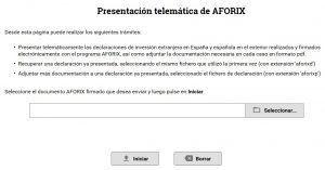 Presenetación del Modelo D6 de Inversión Española de Valores Negociados en el Extranjero