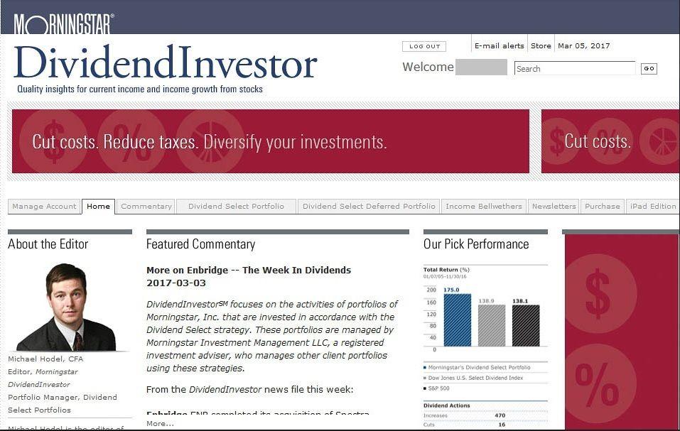 Portada de DividendInvestor de Morningstar